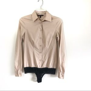 Victoria's Secret button down shirt body suit